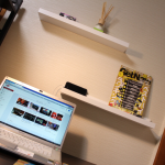 イケアの飾り棚を壁に取り付けてみた