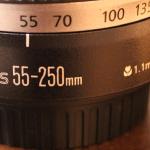 Canon Kiss X5ダブルズームキットに付いている望遠レンズで月を撮ってみた