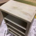 百均の木箱をミルクペイントで簡単リメイク